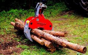 Chwytak żurawia do załadunku drewna okrągłego