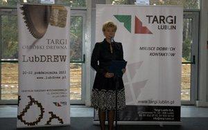 Beata Gorajek, Prezez Targów Lublin SA, oficjalnie otwiera Targi Lubdrew 2011