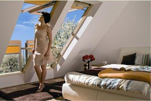 Okno dachowe FGH-V potrafi zamienić sie w balkon