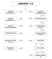 Schemat organizacyjny Grupy Barlinek