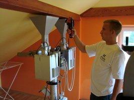 Generator mikrofal systemu SAURUS, monitoring pracy kamerą termowizyjną