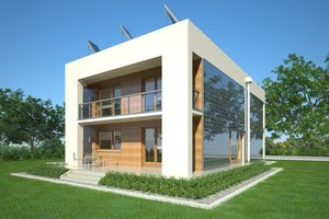 Dom Zeroenergetyczny wizualizacja