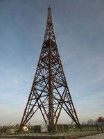 Drewniana wieża radiostacji w Gliwicach