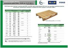 Karta oceny palet EPAL i EUR zieona str. 2 - Cechy prawidłowej europalety