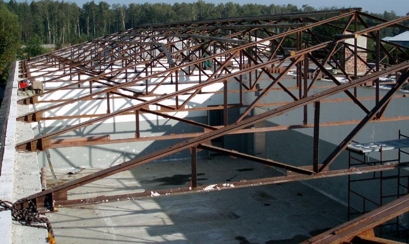 Konstrukcja stalowa dachu - kratownice
