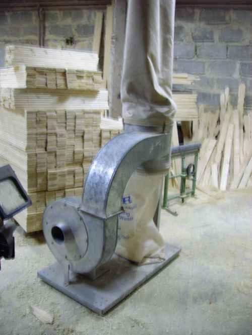 Odciąg wiórów workowy - 1300 zł