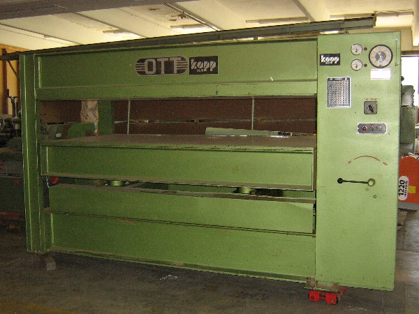 Prasa  pulkowa OTT 250 x 130cm  hydrauliczna
