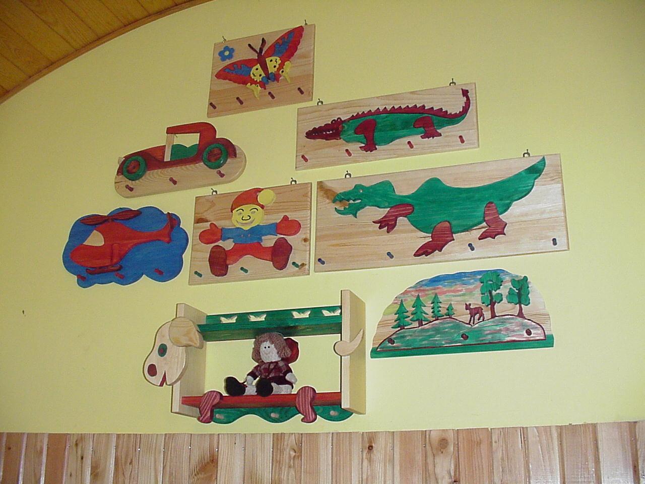 wieszaki dekoracyjne dla dzieci