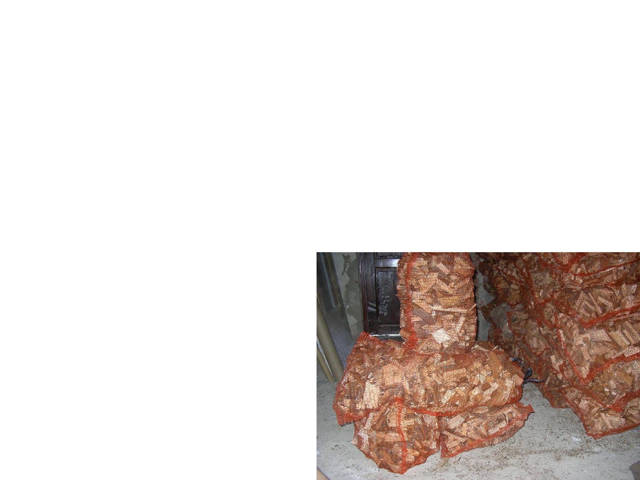 drewno opałowe w workach