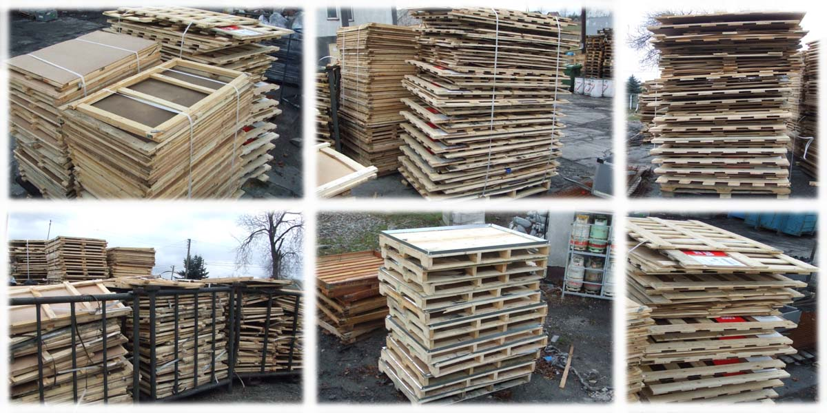 Elementy skrzyń drewnianych