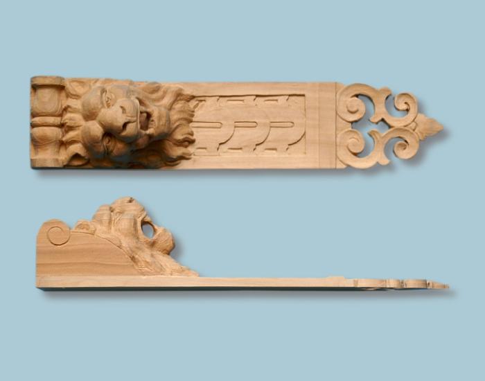 Drewniane detale dekoracyjne do mebli