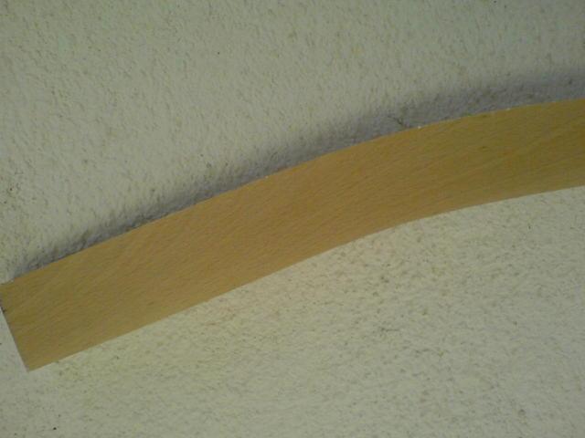 Elementy gięte z litego drewna bukowego
