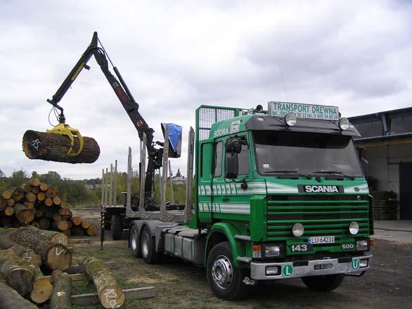 SCANIA z HDS  do przewozu drewna
