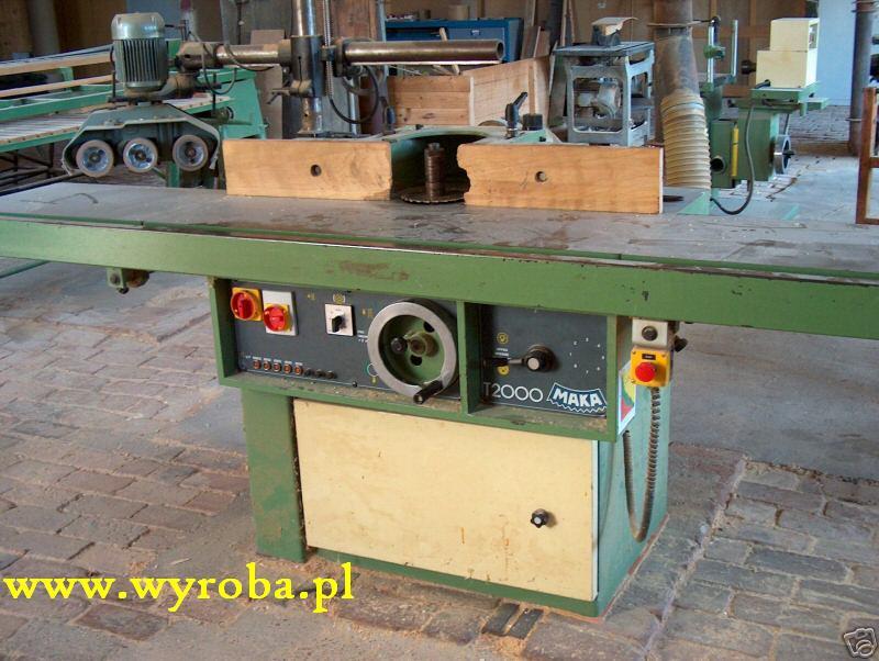 FREZARKA dolnowrzecionowa MAKA T2000 szeroki stół