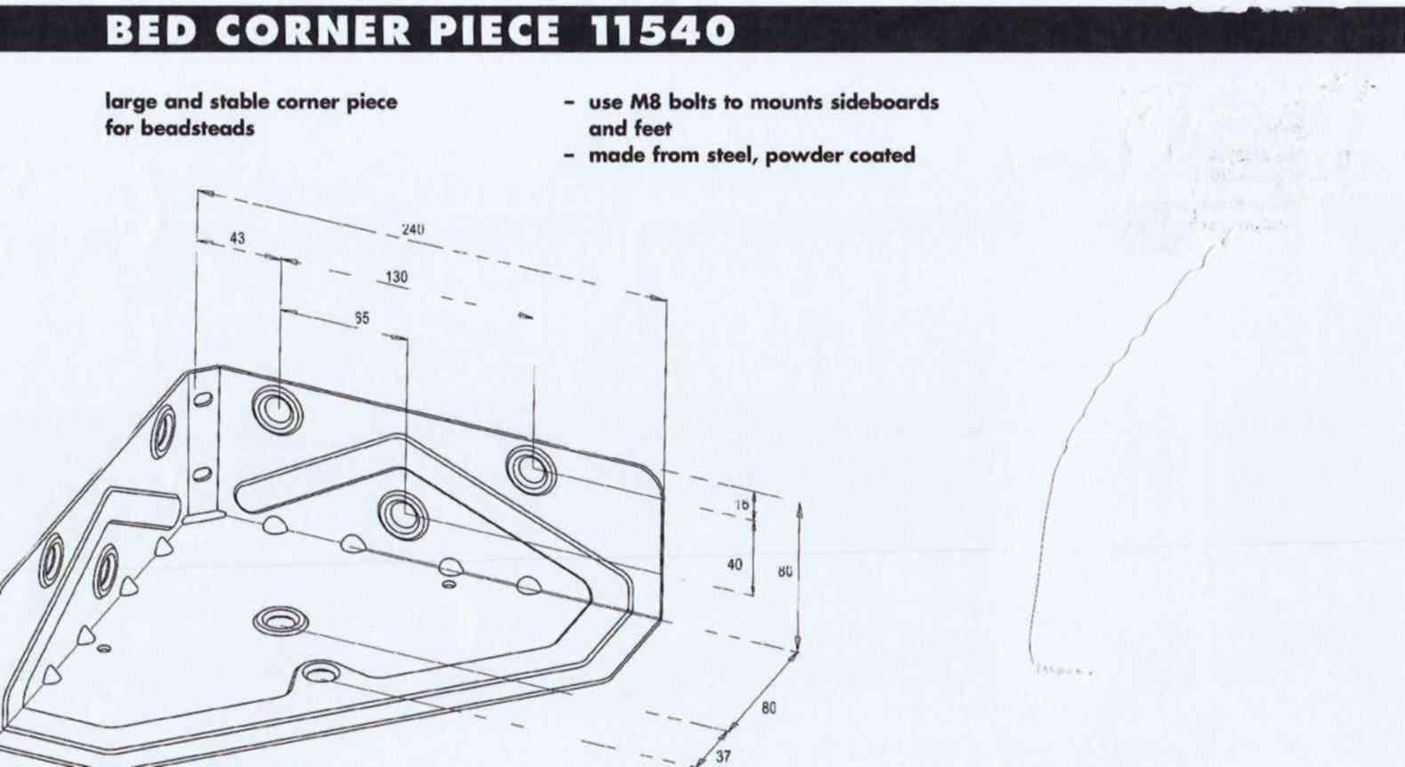 łączniki metalowe łóżek