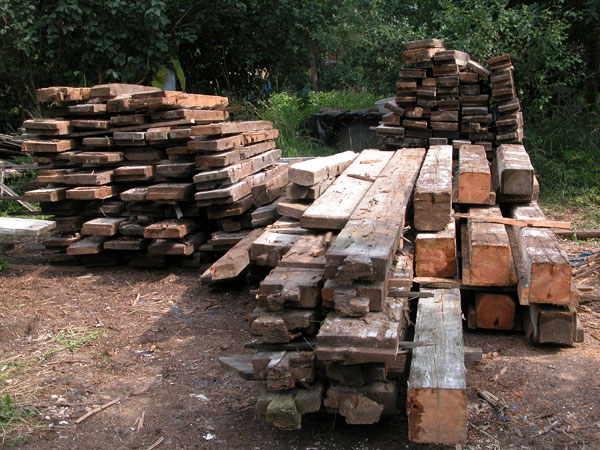 dom drewniany / drewno z rozbiórki dworu 250 lat