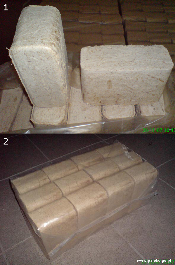 Brykiet drzewny RUF - 2 rodzaje lisciaste. PALEKO