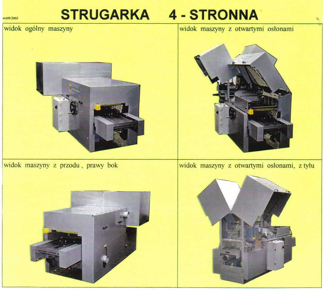 strugarka  4-stronna