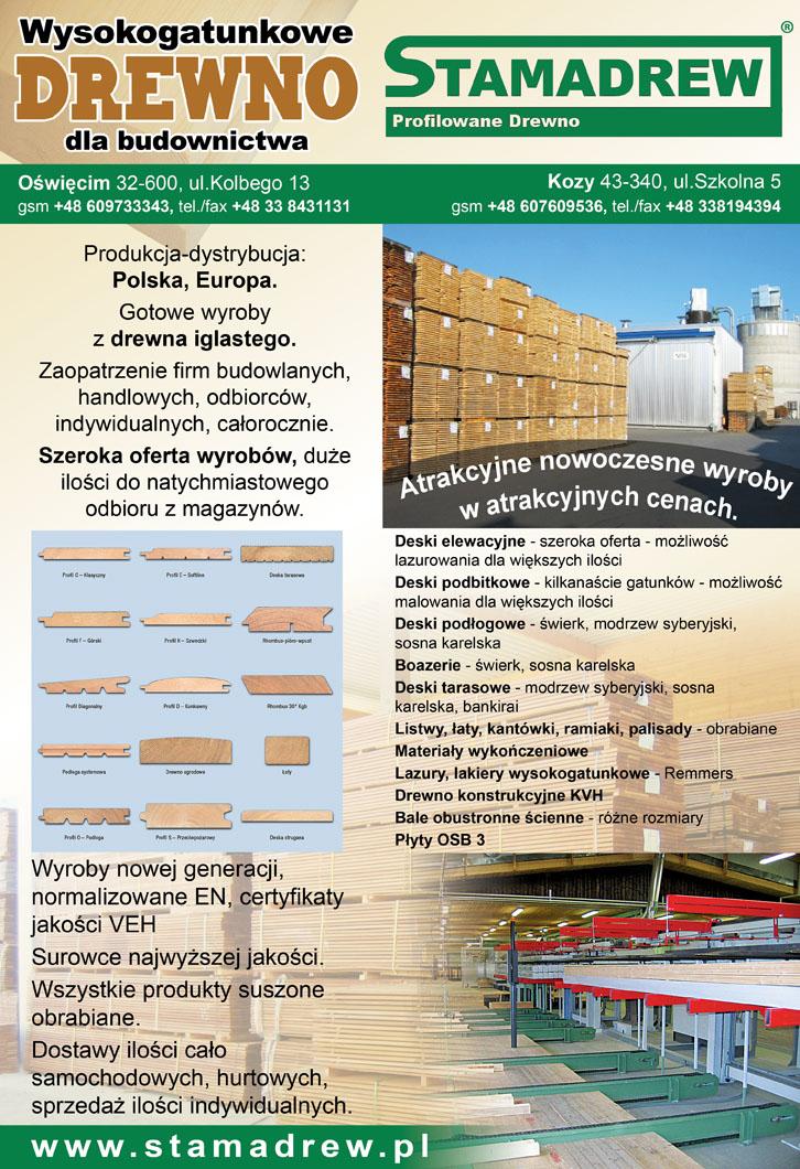 Duże dostawy drewna profilowanego