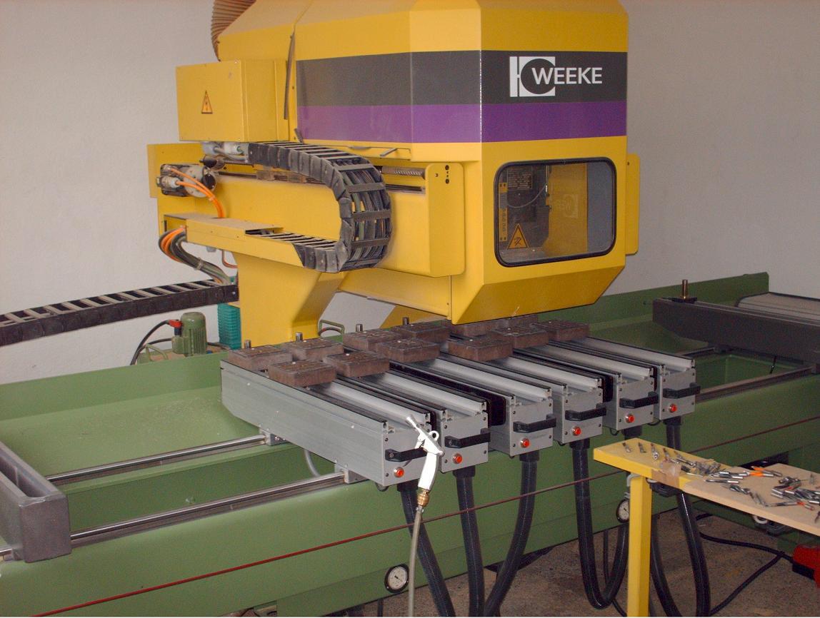 Maszyny CNC do mebli, stelaży - WEEKE 2