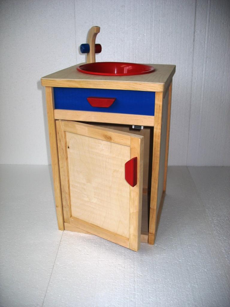Zlew drewniany wykonany ręcznie