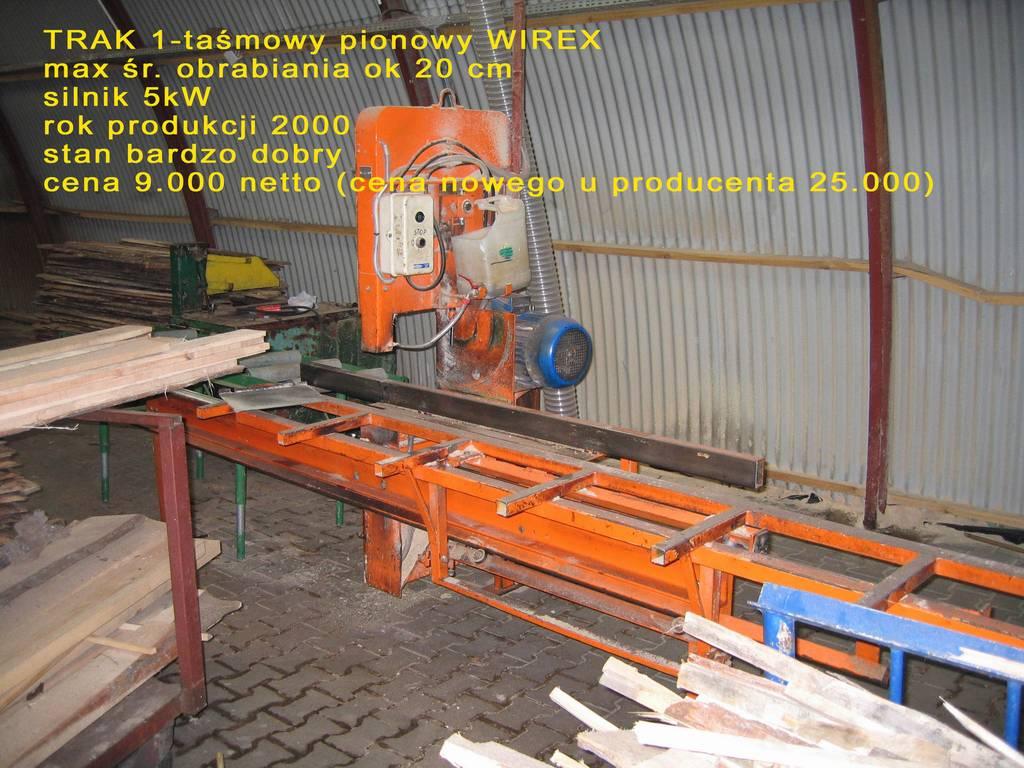 Trak 1-taśmowy pionowy WIREX, 2000r