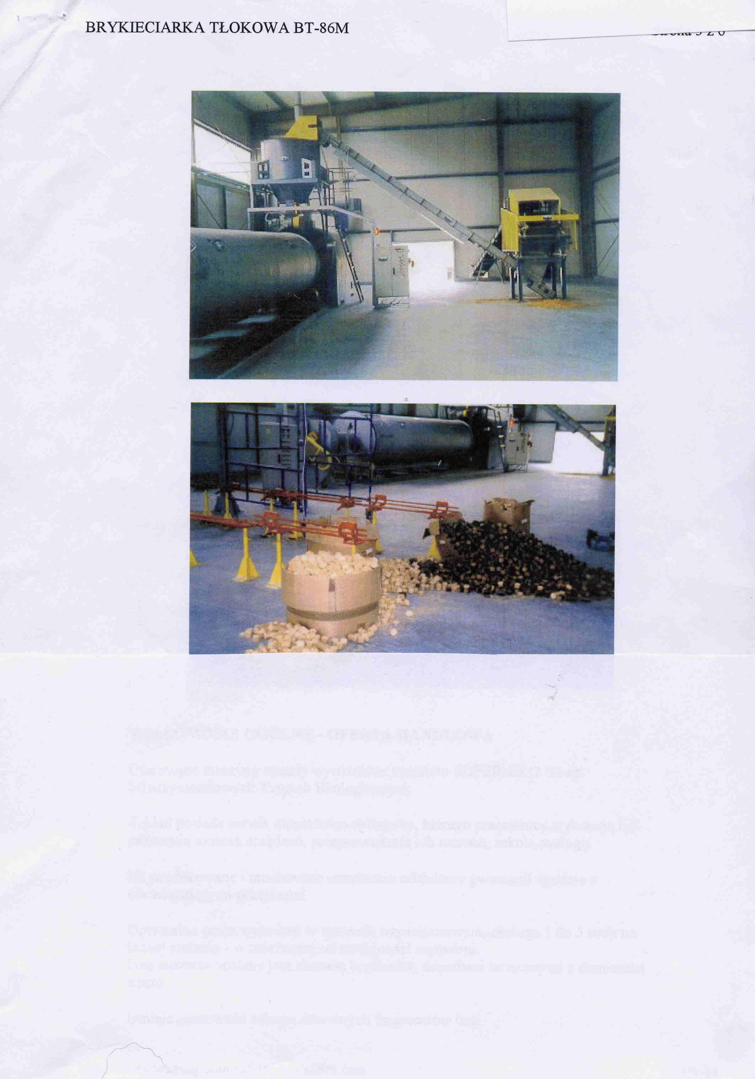 Wydajna, profesjonalna linia do produkcji brykietu