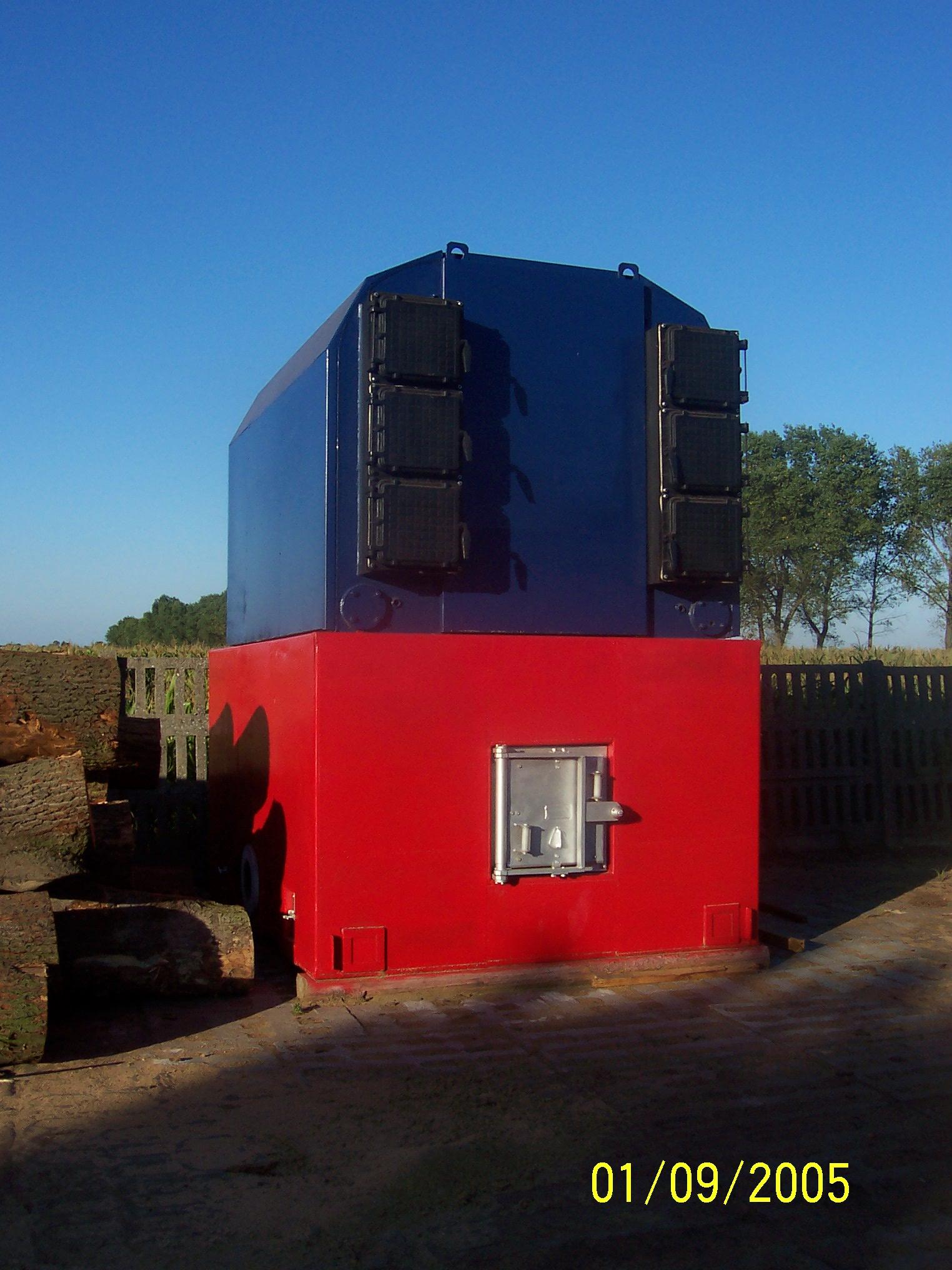 Piec na mokre trociny 1200 kW