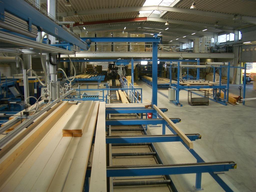linia do zautomatyzowanej produkcji więźby dachowej