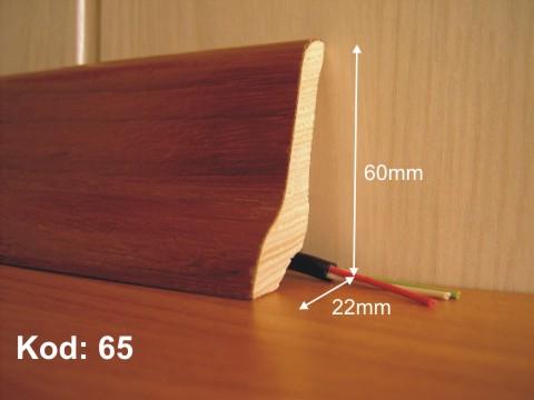Listwy przypodłogowe fornirowane i z drewna litego