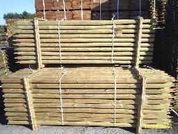 Duże ilości palisady sosnowej o śr 10,12 i inne