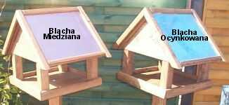Karmniki dla ptaków prostokątne dębowe (naturalne)