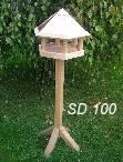 Karmnik dla ptaków sześciokątny dębowy (naturalny)
