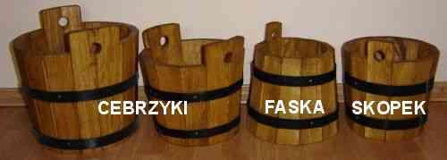 Drewniane Cebrzyki, Faski, Skopki