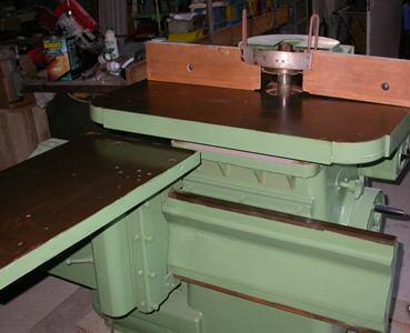 Frezarka stołowa Klein z wózkiem do czopowania