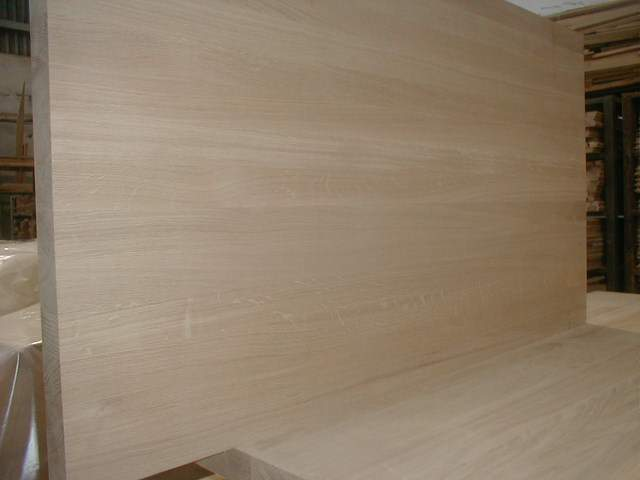 Oak panels for furniture industry