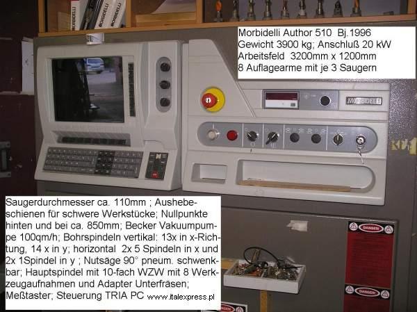 Używane M A S Z Y N Y (CNC) MORBIDELLI AUTOR 510