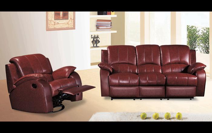 Zestaw sofa 1+2+3 os. skóra. Nowe!Hf032