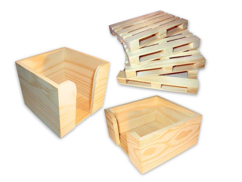 skrzynki drewniane 10-10-8,5 cm.  reklamowe na kar