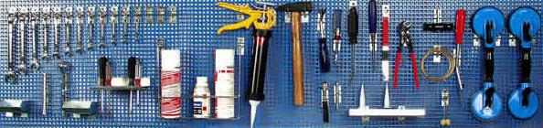 Tablice na narzędzia, ścianki warsztatowe