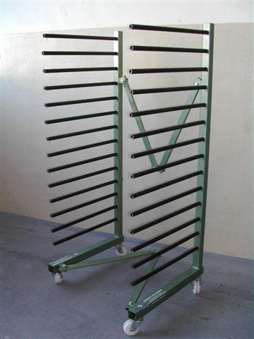 HUSARZ 2 - Wózek / Regał lakierniczy na kółkach