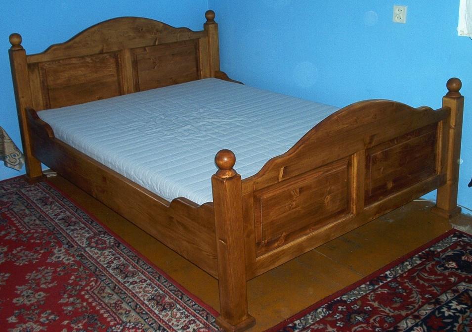 Piękne łoże drewniane!