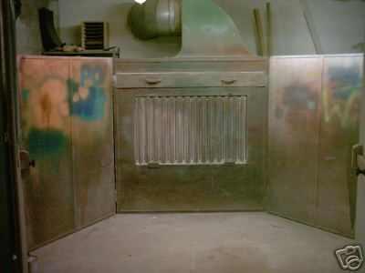 Sucha ściana lakiernicza,wyciąg farb i lak.