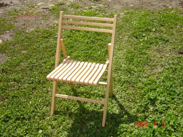 krzesła  składane - drewno buk - różne  kolory