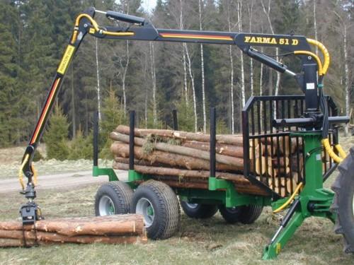 Import maszyn leśnych do traktora z HDS