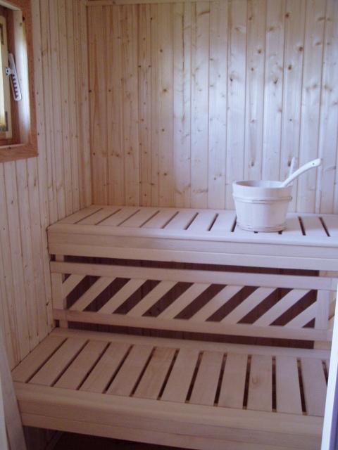 Domek drewniany z bali #45mm z sauną