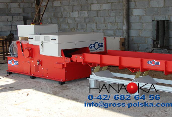 Rębak tartaczny GROSS - wydajność do 3500 kg/h