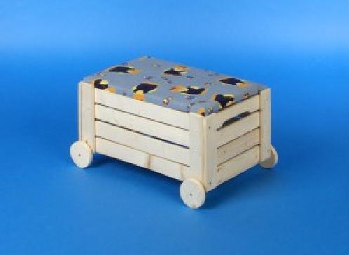 wózek z tapicerka