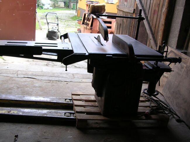 pilarka tarczowa Rema z wózkiem i wiertarką poziom
