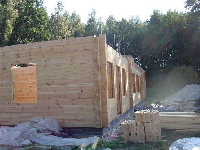 bale klejone do budowy domów